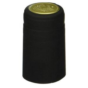 Термоусадочный колпачок на бутылку черный